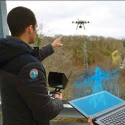Drone Camera Overlays Video with 3-D Images | A new crop of drones can overlay videos they shoot with 3-D images and augmented reality — all while still hovering over a location. The technology is being funded by the European Space Agency and builds on a patent held by France's space agency, CNES, for the interactive broadcast of images from a robot moving in predeterminate space.
