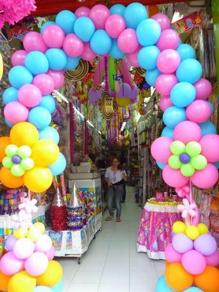 Fiestas y detalles arco en globos fiesta de carnaval - Decoracion de carnaval ...