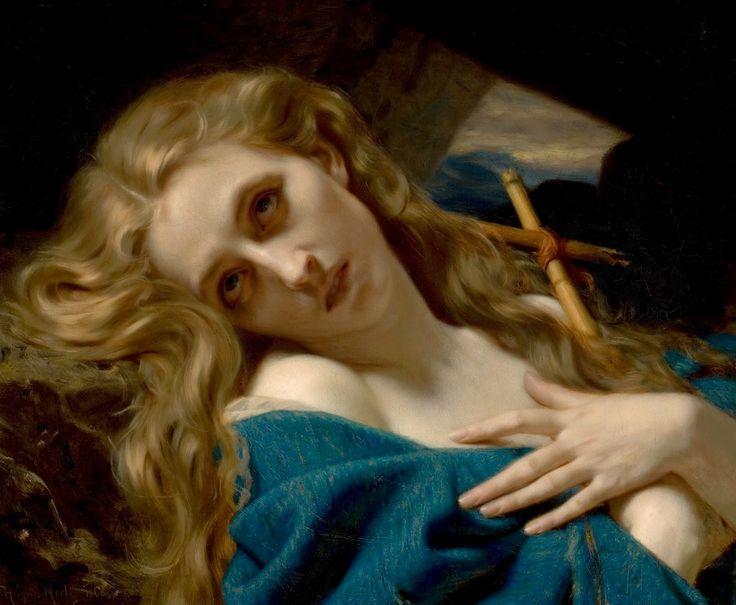 Jules Joseph Lefebvre - Mary Magdalene in the Cave  #19th #Classic #JulesJosephLefebvre #Painting