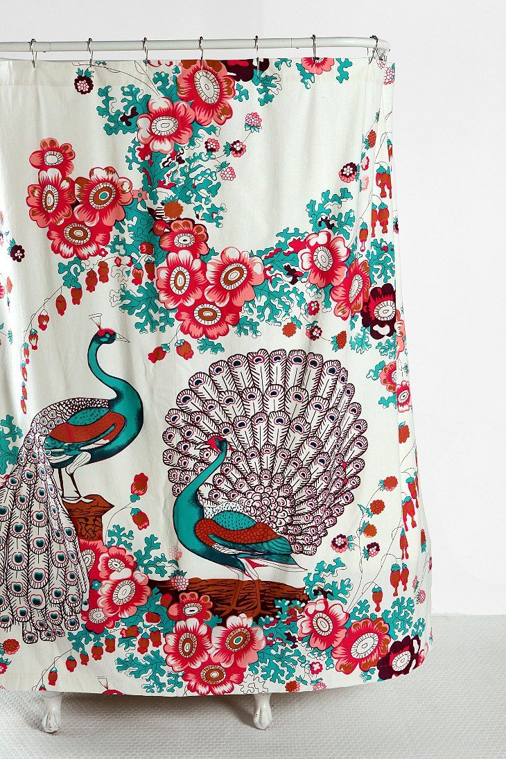 Peacock shower curtain urban outfitters - Peacock Shower Curtain Urban Outfitters Floral Peacock Shower Curtain