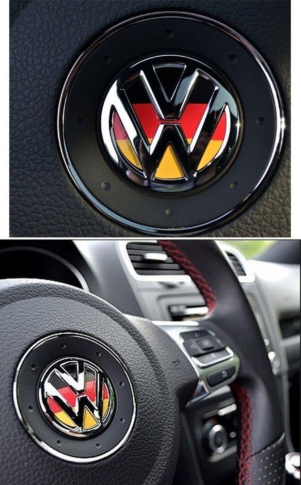 Volkswagen VW logo germany steering wheel decal car for colf jetta beetle passat
