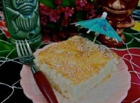 Low-fat never sounded more delicious with this Hawaiian inspired Luau angel food cake that is mixed with pineapple and coconut.