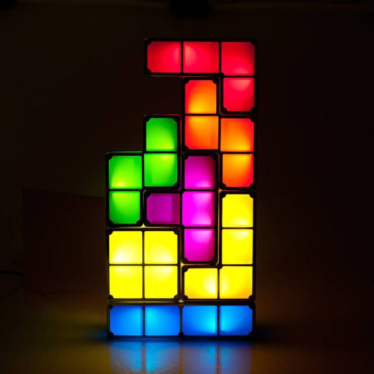 I've just found Tetris Light Coloured Night Light. This mains-powered stackable Tetris Light can be arranged in countless combinations to create a truly innovative gift.. £29.99