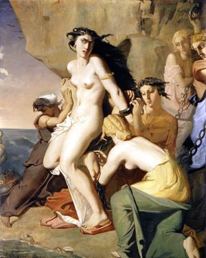 Andromeda Tied to the Rock by the Nereids, 1840  Theodore Chasseriau