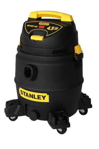 Stanley 8255819/SL18017P Wet/Dry Vac, 4.5-Peak Horsepower, 8-Gallon, Yellow Provides maximum suction power for heavy duty pickup. Rear blower port. Swiveling casters provide ease of movement in any direction. On/off switch with waterproof design for safe and quick access. Built-in 16-foot built-in power cord with cord wrap.  #Stanley #HomeImprovement