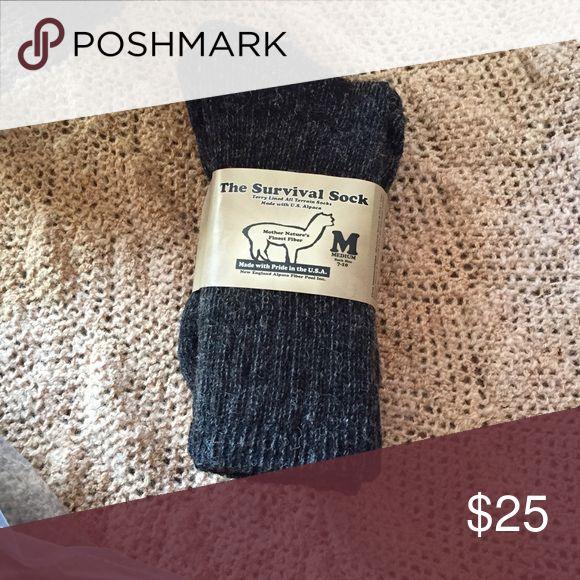 100% alpaca socks Made in the USA alpaca socks..S-M-L Other