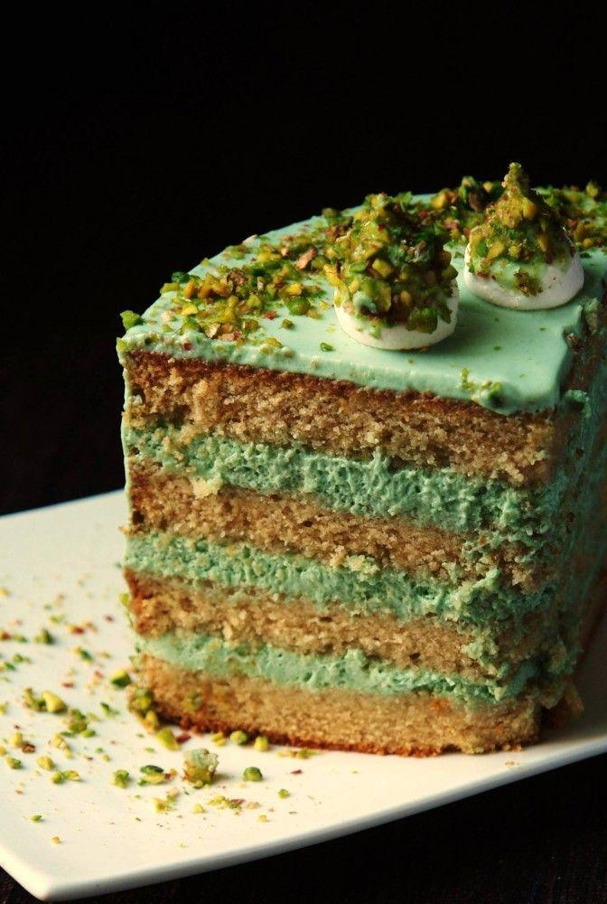 Фисташковый торт с жасминовым чаем: povarisha