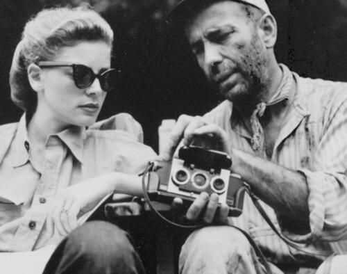 HUMPHREY BOGART and LAUREN BACALL (and their Stereo Realist camera)