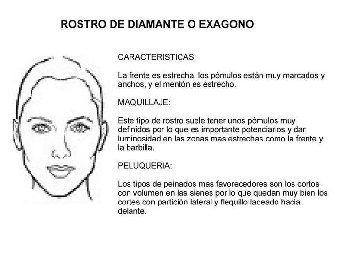 ROSTRO DE DIAMANTE Y HEXAGONO : TIPOS DE ROSTROS : Pinterest