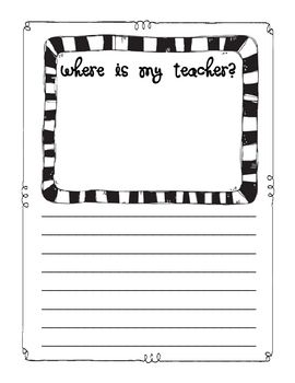 Where's My Teacher? Creative writing for Sub Tub: Kindergarten Creative Writing, Fun Writing Activities, Emergency Writing, Good Ideas, Language Writing, Cute Ideas, Substitute Teacher, Writing Ideas, Sub Tubs Ideas