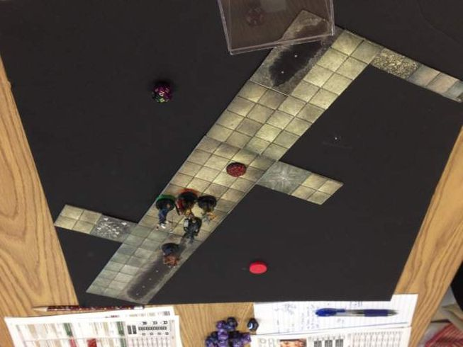 Dungeon tiles on a foam core board: Dungeon Tile Tips