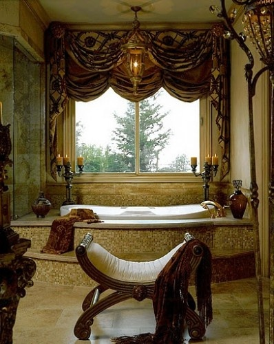mediterranean bathroom by Maria Billingsley of J Hettinger Interiors