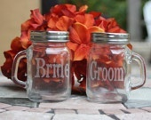 cute riki_dugenskeMini Mason Jars, Masons, Brides Grooms, Stuff, Grooms Mason, Cool Ideas, Bridal Shower Gift, Minis Mason Jars, Bride Groom