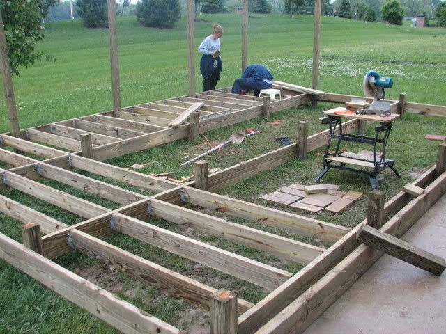 Wood Deck 4x4 Footing Spacing Building Amp Construction