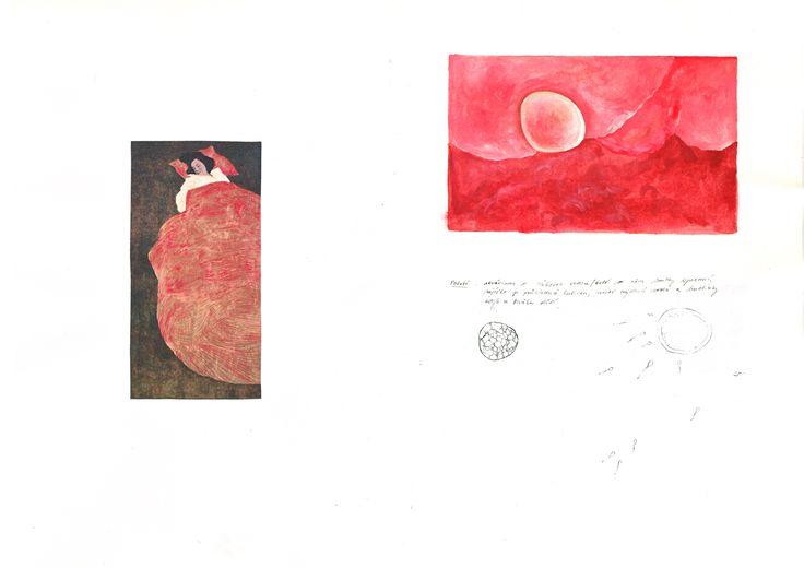 Objevení nebe/ The Discovery of Heaven - ze skicáře k připravované inscenaci / from the scenographer's sketchbook