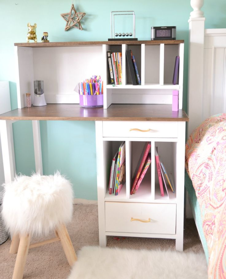 DIY Desk Hutch with free plans by Ana White | iamahomemaker.com | Free Plans