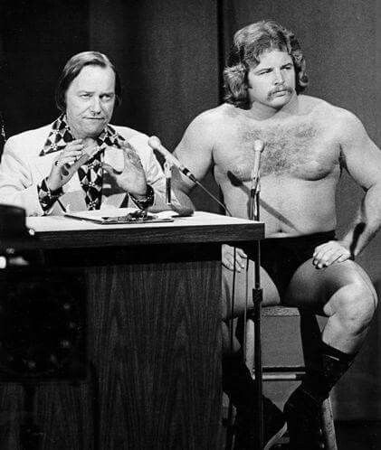 Announcer Gordan Soley and wrestler Mike Graham. I loved watching wrestling with my Dad.