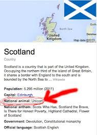 scotland's national animal - Unicorn!