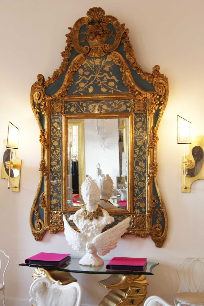 Fantastic antique mirror. House of Schiaparelli via Style Bubble