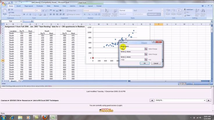 How to Make an Excel 2007 Scatterplot with Groups | Data ...