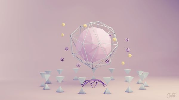 """Astratto"" Low Poly Collection by Dennis Cortes, via Behance"