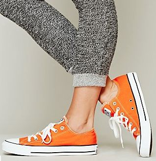 fun #orange Charlie Converse shoes rstyle.me/...