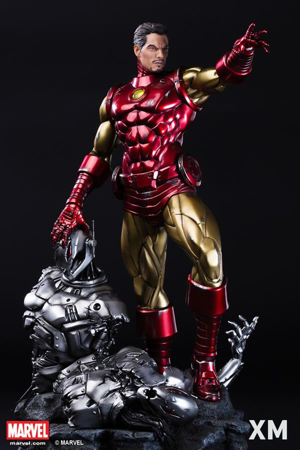 XM Studios is excited to present our next Marvel Premium Collectibles series statue, Ironman Classic! Iron Man has donned on many different versions of his famous suits and one of the most iconic versions is the Bronze Age classic Iron Man suit. The Invincible Iron Man is immortalized in amazingly detailed 1:4 scale cold-cast porcelain. Each painstakingly handcrafted statue is individually hand-painted with the highest possible quality finish. You love Iron Man, the classic suit is a must…