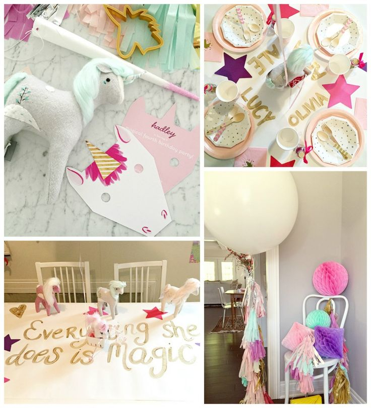 Our unicorn party invitations are just one of the fabulous girls' birthday party ideas this creative mom used for her daughter's unicorn party.
