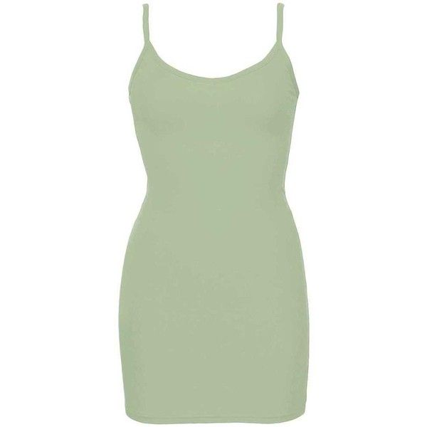 BKE Extra Long & Lean V-Neck Tank Top - Green X-Small ($5) ❤ liked on Polyvore featuring tops, green, strappy top, green v neck top, v-neck top, spaghetti-strap tops and low v neck tops