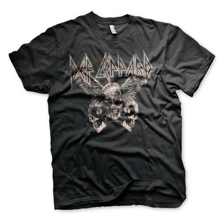 Hybris Def Leppard - Flying Skulls unisex T-shirt zwart - Band merchan