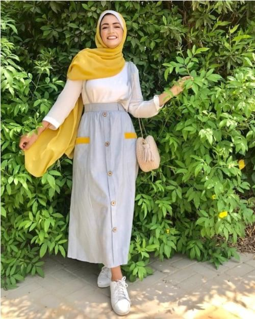 Fun and Colorful hijab outfits     Just Trendy Gir…