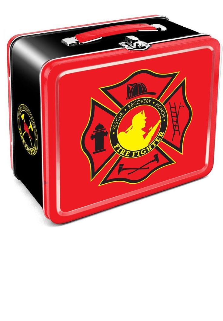 Firefighter Tin Lunch Box | Shared by LION