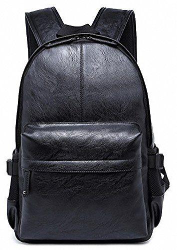 Kenox Vintage PU Leather Backpack For School College Book Bag Laptop Computer