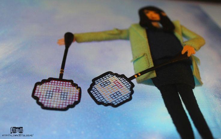 ●EllBill Miniature_Graphic Monster badminton racket ●Creator: EllBill (KimMinju) ●blog: alswn3011.blog.me/ ●E-mail: alswn3011@naver.com