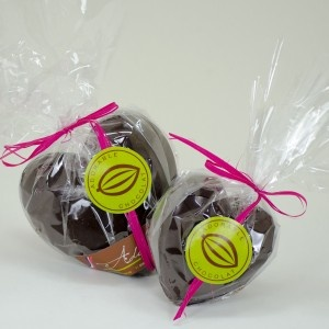Adorable Chocolate Hearts filled with Smaller Hearts, a featured East Coast product in gift baskets from  BeenThereGifts.com, an Atlantic Canadian company