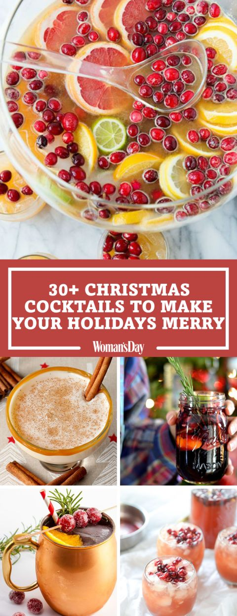 Save these Christmas cocktail ideas for later by pinning this image and follow Woman's Day on Pinterest for more.