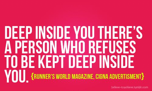 Deep inside you there's a person who refuses to be kept deep inside you. #juliomedina #shakeology #workout #motivation