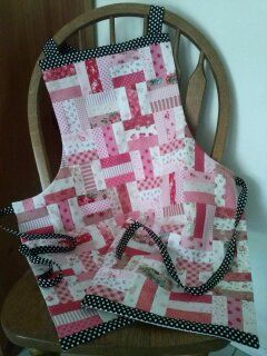 An apron made from scraps in my stash.