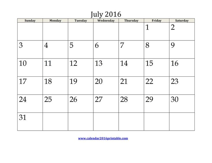 The 25+ best July 2016 calendar template ideas on Pinterest - blank calendar template