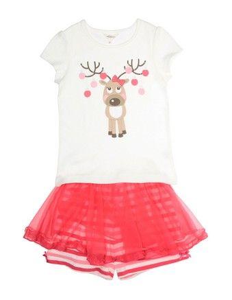 Milkshake Reindeer Pyjama set $22.95 from @Myer MyStore #MacquarieCentre #Christmas #ideas #forher #kids #cute