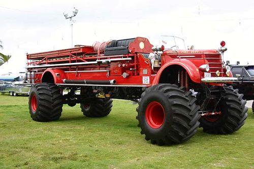 Camión de bomberos del campesino sureño,