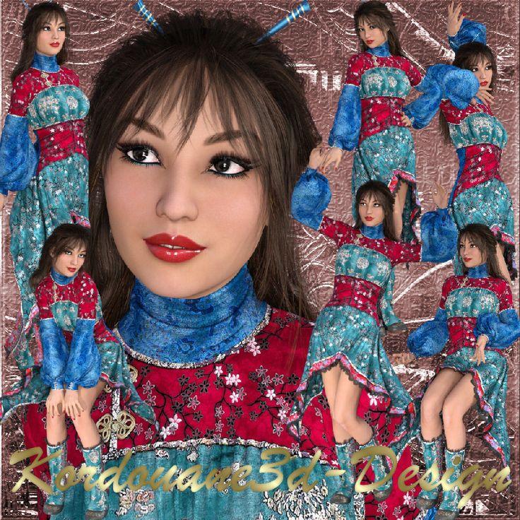 Ah Lam : Femme eurasienne (tube-image-render)