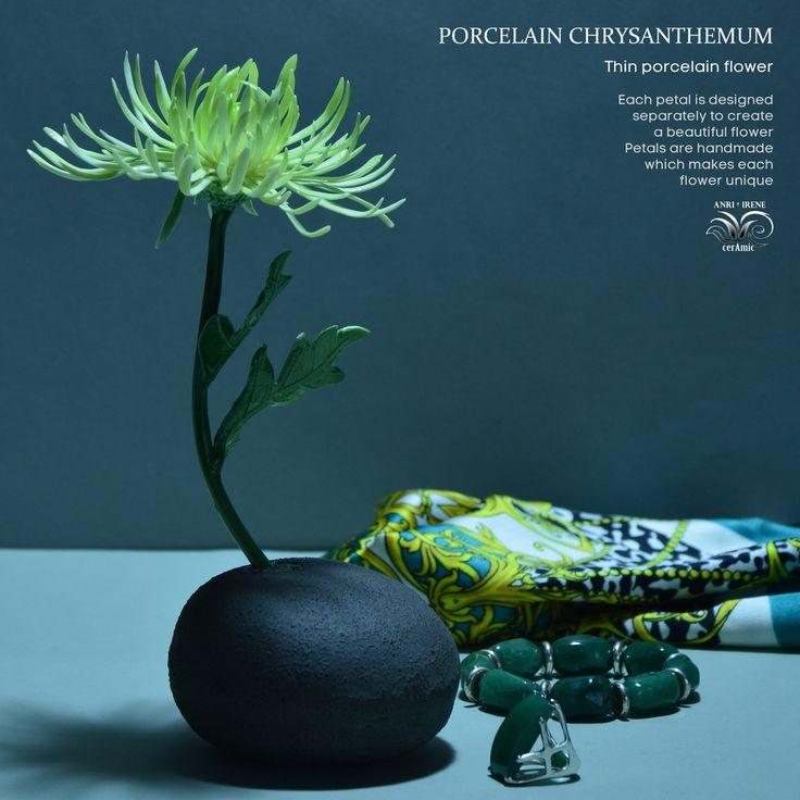 487 отметок «Нравится», 41 комментариев — Porcelain flowers. Ceramics. (@anri.irene_porcelain.art) в Instagram: «Porcelain golden-daisy. Stem, leaves and flower of firing porcelain. #porcelain #porcelainflowers…»