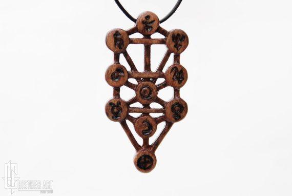 Jewish Kabbalah Jewelry: Ten Sephirot  Tree Of Life by CristherArt