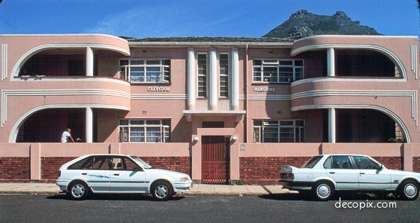 #ArtDeco | Clevedon Mansions,  Cape Town, South Africa