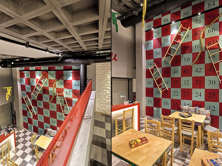 Alaloum Board Game Cafe By Triopton Architects, Athens Greece Cafe