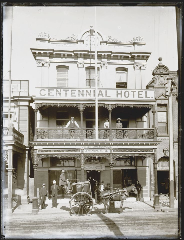 Centennial Hotel, Scott St, Newcastle, NSW, Cultural Collections, University of Newcastle, NSW, Australia 1910