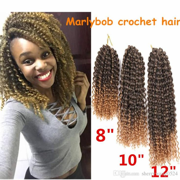 ombre afro Kinky Curly Crochet Hair Synthetic Braiding Hair Extensions Mali bob Marley crochet braids