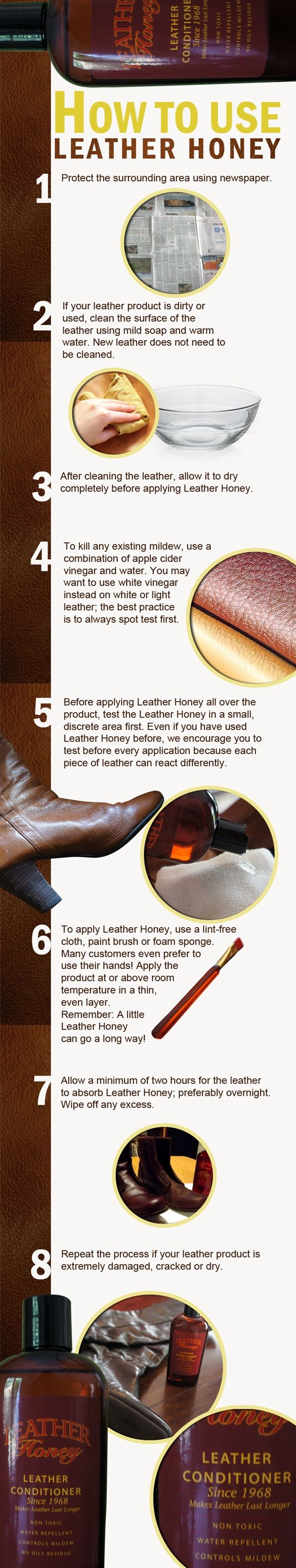 Modern Sofa How to clean leather and apply Leather Honey A helpful infographic