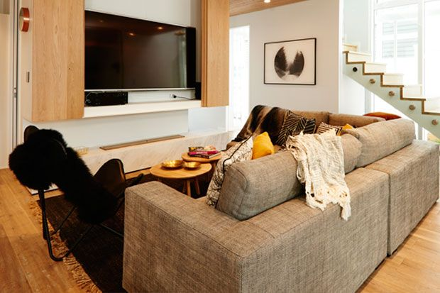 Check out the Freedom Furniture products Alex and Corban used in their living room and entranceway.